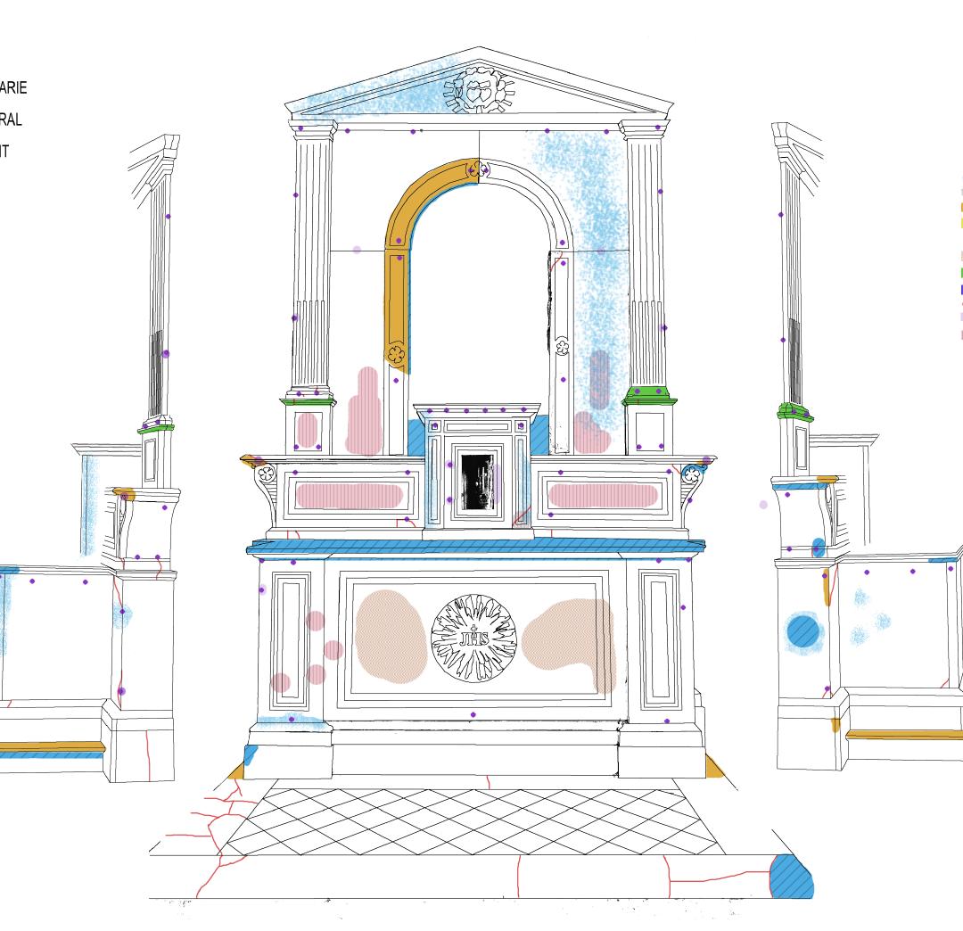 Étude de trois autels pour la ville de Basse-Pointe
